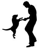 Mann und Hund Stockbild