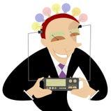 Mann- und Ideenherstellermaschine Lizenzfreie Stockfotografie