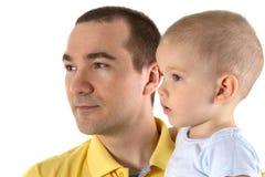 Mann und Kind stockfoto