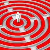 Mann und labirinth Stockfoto