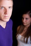 Mann und Mädchen Stockbild