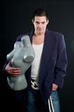 Mann und Mannequin Lizenzfreies Stockfoto