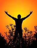 Mann und Natur Lizenzfreies Stockfoto