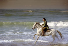Mann und Pferd Stockfoto