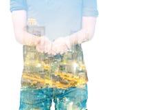 Mann und Stadt Lizenzfreie Stockfotos