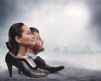Mann und weibliches Konzept Stockfotografie