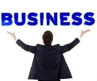 Mann und Wort 3d Lizenzfreies Stockfoto