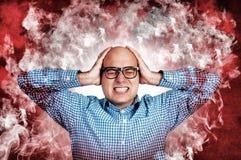 Mann unter dem Druck Stockfotografie