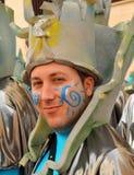 Mann verkleidet, Karneval von Cadiz, Andalusien, Spanien Stockbild