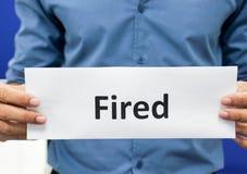Mann verlieren Job lizenzfreies stockbild