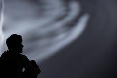 Mann verloren in der Krise Stockfotografie