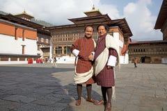 Mann von Bhutan in der traditionellen Kleidung, Thimphu, Bhutan Stockfoto