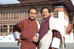 Mann von Bhutan in der traditionellen Kleidung, Thimphu, Bhutan Stockbild