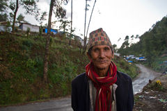 Mann von Sindhupalchowk, Nepal stockfotos