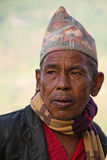 Mann von Sindhupalchowk, Nepal lizenzfreies stockbild