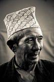 Mann von Sindhupalchowk, Nepal lizenzfreie stockbilder