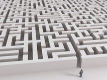 Mann vor Labyrinth Stockfotos