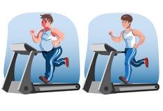 Mann vor und nach Gewichtsverlust Stockfoto