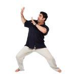 Mann wärmt auf Lizenzfreie Stockfotografie