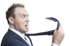 Mann wütend an  Lizenzfreie Stockbilder