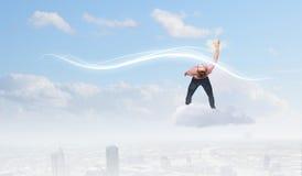 Mann weicht Licht aus Lizenzfreies Stockfoto