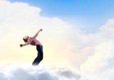 Mann weicht Licht aus Stockfotografie