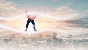 Mann weicht Licht aus lizenzfreie stockfotos
