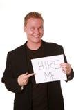 Mann, welche nach Beschäftigung sucht lizenzfreie stockbilder
