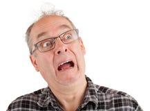 Mann wird erschrocken Lizenzfreie Stockbilder
