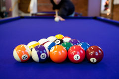 Pool-Hall-Billard Stockfotos