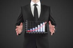 Mann zeigt Diagramm Lizenzfreie Stockfotografie