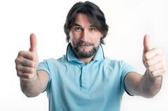 Mann zeigt ein Zeichen des O.K.s Lizenzfreies Stockbild