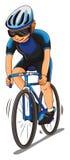 Mannathleten-Reitfahrrad stock abbildung