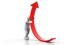 Mannaufstiegs-Wachstumspfeil Stockfoto