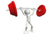 Mannaufzuggewicht Lizenzfreies Stockfoto