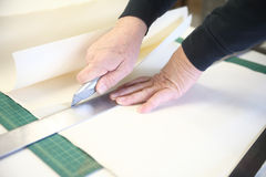 Mannausschnitt-Kunstdruckpapier Lizenzfreies Stockbild