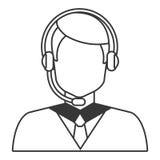 Mannavatara und Kopfhörer, Vektorgraphik Stockbild