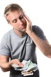 Mannbanknoten gesorgt Lizenzfreie Stockfotos