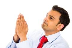 Mannbeten lizenzfreie stockfotos