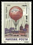 Manned flyg, drakeballong Arkivfoton