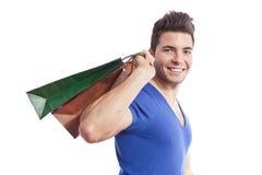 Manneinkaufen Lizenzfreies Stockbild