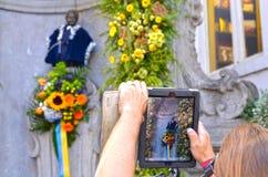 Manneken Pis, Βρυξέλλες Στοκ φωτογραφία με δικαίωμα ελεύθερης χρήσης