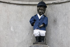 Manneken Pis as Rider of the Cercle Royal de Oxer Royalty Free Stock Photos