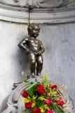 Manneken Pis Brussel Stock Afbeelding