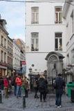 Manneken Pis in Brussels, Belgium Stock Photos