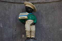 Manneken Pis in Brussels Royalty Free Stock Photography