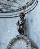 Manneken Pis a Bruxelles, Belgio fotografia stock