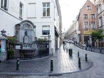 Manneken Pis a Bruxelles, Belgio Immagine Stock