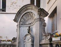 Manneken Pis a Bruxelles belgium immagini stock