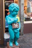 Manneken Pis copy sculpture in Brussels, Belgium Royalty Free Stock Images